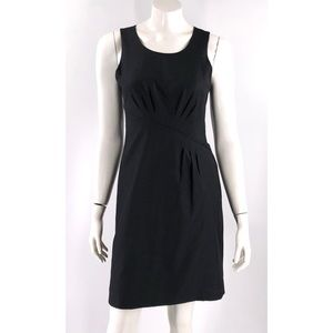 J Crew Wool Sheath Dress Size 2 Black Sleeveless